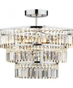 Crystal Semi Flush Fittings